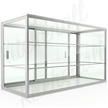 "Custom Glass 10""L x 10""D x 14""H, 2 Shelves, Upright Countertop Straight Glass Food Display Case, Dry"