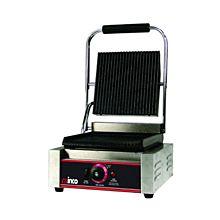 "Winco EPG-1 Countertop Panini Sandwich Grill w/ Single 14"" Ribbed Plate"