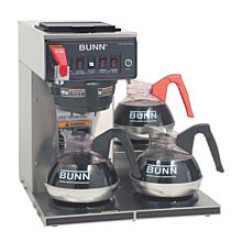 Bunn 12950.0212 CWTF15-3-0212 Coffee Brewer with 3 Lower Warmers - Plastic Funnel