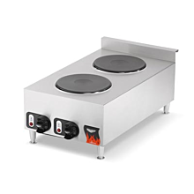 Vollrath STA8002 Countertop 2 Burner Flat Top Electric Hot Plate, 208/240V