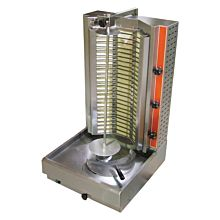 Cookline 4E Electric Vertical Gyro Shawarma Broiler, 120 lb. - 240v