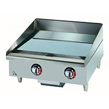 "Star Max 524CHSF 24"" Countertop Electric Griddle with Chrome Plate and Snap Action Thermostatic Controls"