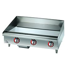"Star Max 536CHSF 36"" Countertop Electric Griddle with Chrome Plate and Snap Action Thermostatic Controls"
