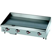 "Star Max 548CHSF 48"" Countertop Electric Griddle with Chrome Plate and Snap Action Thermostatic Controls"
