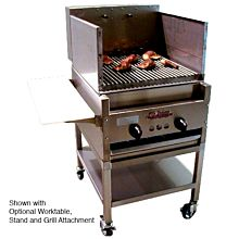 "Old Hickory CH20 24"" Commercial Churrasco Rotisserie Grill, Gas"