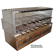 """Old Hickory CH60 72"""" Commercial Churrasco Rotisserie Grill, Gas"""