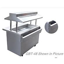 """Global GBT-120 120"""" Commercial Gas Buffet Steam Table with Sneeze Guard"""