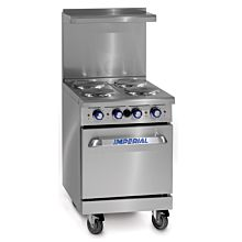 "Imperial IR-4-E 24"" Restaurant Electric Range 4 Burners"