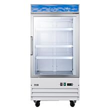 "Summit SCUF18NC 34"" Large Capacity Upright All-Freezer with Frost-Free Operation, and Lock"