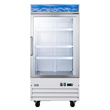 "Summit SPFF51OSCSSHH 24"" Outdoor All-Freezer with Stainless Steel, Horizontal Handle, and Lock"