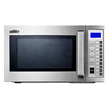 "Summit SCM1000SS 20"" Microwave with Stainless Steel Exterior and interior"