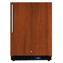 "Summit SPFF51OSIF 24"" Outdoor All-Freezer with Panel-Ready Door, Black Cabinet, and Led Lighting"