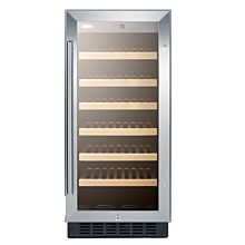 "Summit SWC1535B 15"" Wine Cellar for Built-in Or Freestanding Use, with LED Lighting"