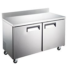 """Coldline TUC48R-BS 48"""" Undercounter Worktop Refrigerator with 4"""" Backsplash"""