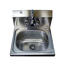 "16"" Stainless Steel Wall Hung Hand Sink with Faucet"