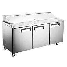 """71"""" Standard Top Bain Marie Sandwich Prep Refrigerator - 18 Pans"""