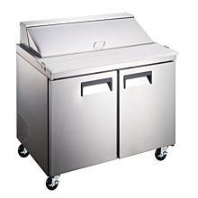 "Coldline SCL2-36 36"" Standard Top Bain Marie Sandwich Prep Refrigerator, 10 Pans"