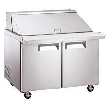 """Coldline SMP48 48"""" Mega Top Refrigerated Sandwich Prep Table with Cutting Board and Food Pans"""