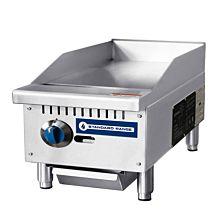 "Standard Range SR-G12-M 12"" Commercial Countertop 1 Burner Gas Griddle with Manual Control - 30,000 BTU"