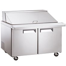 """Coldline SMP60 60"""" Mega Top Refrigerated Sandwich Prep Table with Cutting Board and Food Pans"""
