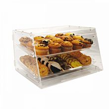 "Winco ADC-2 Counter Top Display Case w/ (2) 12 x 18"" Trays, 21 x 18 x 12"", Clear"