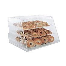 "Winco ADC-3 Counter Top Display Case w/ (3) 12 x 18"" Trays, 21 x 18 x 16.5"", Clear"