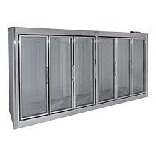 """Universal ADM-6-F 150"""" Stainless Steel Six Swing Glass Door Remote Merchandiser Freezer"""