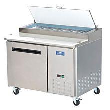 "Arctic Air APP48R 48"" Pizza Prep Table Refrigerator - (6) x 1/3 pans"