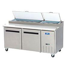 "Arctic Air APP71R 71"" Pizza Prep Table Refrigerator - (9) x 1/3 pans"