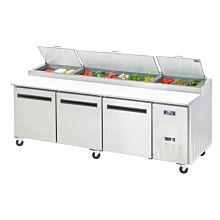 "Arctic Air APP94R 94"" Pizza Prep Table Refrigerator - (12) x 1/3 pans"