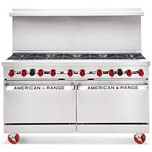 "American Range AR-10 60"" 10 Burner Gas Commercial Range"