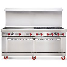 American Range ARGF-12, 72 inch Commercial Range with Green Flame Pilotless Ignition, 12 Burner - New Style