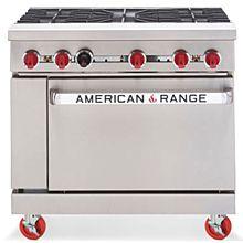 "American Range AR-5 36"" 5 Burner Gas Commercial Range"