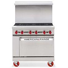 "American Range AR-6 36"" 6 Burner Gas Commercial Range"