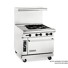 American Range 36 inch Commercial Range, 12 inch Griddle - Old Style