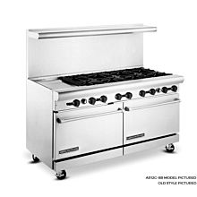 American Range 60 inch Commercial Range, 12 inch Griddle, AR12G-8B - Old Style
