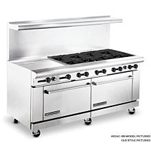American Range 72 inch Commercial Range, 24 inch Griddle, AR24G-8B - Old Style