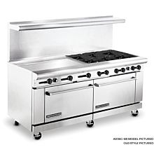 American Range 72 inch Commercial Range, 36 inch Griddle, AR36G-6B - New Style