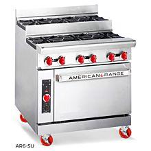 "American Range AR6-SU 36"" Step-Up Open Burner Range"