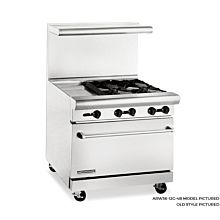 American Range 36 inch Commercial Range, 32 inch Oven, ARW36-12G-4B - Old Style