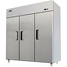 """Atosa MBF8003GR 78"""" 3 Solid Door Reach-In Freezer"""