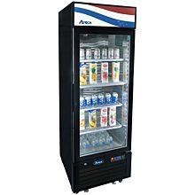 """Atosa MCF8725GR 24"""" 1 Swing Glass Door Merchandiser Refrigerator"""