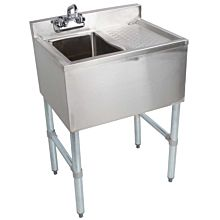 "BAR1014-1R 24"" Single Compartment Bar Sink, Right Drainboard"