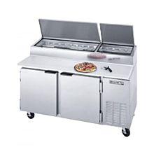 Beverage-Air DP67 67 inch Two Door Pizza Prep Table