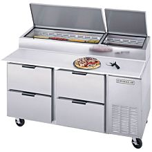 Beverage-Air DPD67-4 67 inch Four Drawer Pizza Prep Table