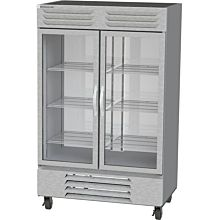Beverage-Air FB49HC-1G 52 inch Vista Series Two Section Glass Door Reach-In Freezer - 49 cu. ft.