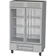 Beverage-Air FB49HC-1G 52 inch Vista Series Two Section Glass Door Reach-In Freezer - 49 cu. ft.