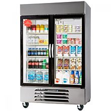 Beverage-Air HBF49-1-G Horizon Series 52 inch Glass Door Reach-In Freezer with LED Lighting
