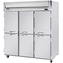Beverage-Air HBF72-1-HS 75 inch Bottom Mount Horizon Series Three Section Half Door Reach In Freezer with LED Lighting