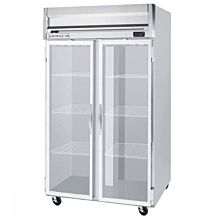 "Beverage Air HF2-1G 52"" Two Section Reach-In Freezer, (2) Glass Doors, 115v"